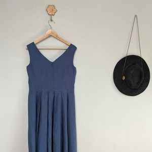 Sundance blue linen midi dress, sleeveless dress